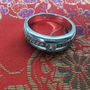"925 Sterling Silver Ring 2.25"" 56.6mm Women Size 8"